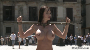 Stunning Big Bosomed Euro Gal Copulated In Public