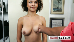 Teasing And Inviting Ebony Porn Actress Blowing