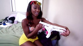 Super Hot Ebony Honey Shows Off With Pride