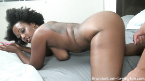 Ebony Tattooed Mom With Big Butt Shagging In Amateur Clip