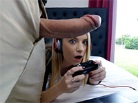 Gamer Chick Gets Her Pussy Stretched As Hell