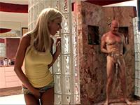 Naughty Girl Stalks Older Guy In Shower And Fucks Him