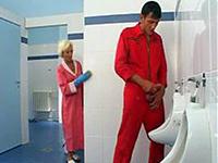Granny Toilet Cleaner Fucked By Stranger