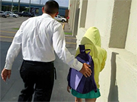 Security Guard Caught Teenage Girl While She Was Trying To Escape From The School