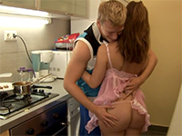 Cooking Together Ends Up With A Great Sex In The Kitchen