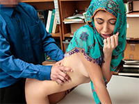 Hijab Arab Teen Harassed For Stealing