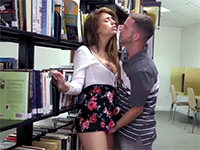 Girlfriend Gives Head And Gets Her Pussy Fucked At The College Library