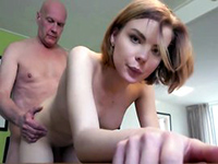 Young Russian Babe Lets Old Man Fuck Her Hard