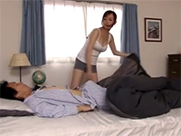 Japanese Mom Sees Boy's Enormous Boner When Waking Him Up