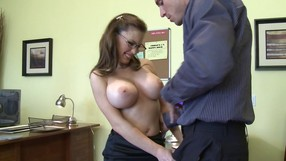 Work Tension Brakes As He Slams Her Pussy