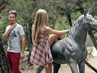 Horses And Nature Makes Her Horny As Fuck