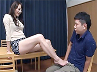 Japanese Milf Seducing Her Totally Confused Cousin Into Fucking