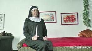 German Nun With Priest In Church