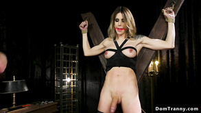 Blindfolded Tranny Sub Ass Fucking Fornicateed By Master