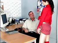 Boss Generously Offered The Raise To Sexy Secretary