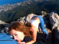 Risky Outdoor Quickie On Top Of A Cliff