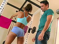 Girl With Perfect Ass Seduces Her Personal Trainer