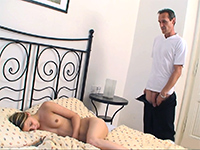 Sleeping Teen Gets A Cum On Her Belly After Grandpa Fucks Her