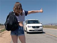 Teen Hitchhiker Fucks Stranger For Ride Home