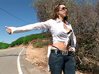 Busty Girl Will Regret Hitchhiking This Day