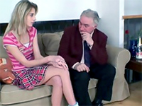 Tall Blonde Teen Fucks With Her Much Older Private Teacher