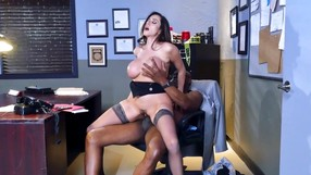 Busty Woman Enjoying A Black Dick In The Office