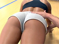 Gym Trainer Couldn't Take His Hands Off That Perfect Bubble Butt