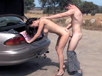 Dirty Couple Stops In The Middle Of The Road To Fuck
