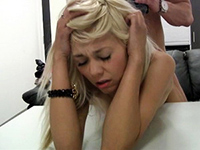 Amateur Blonde Teen Gets A Headache From Hard Banging