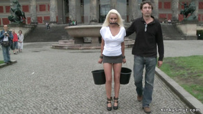 Full Breasted German Blond Had Intercourse Outdoor