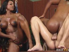 Two Ebony Sluts Jasmine Webb And Diamond Jackson Fucking