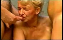 Horny German Grandmother And 2 Boys