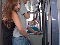 Horny Japanese Bitch Gives A Handjob To A Stranger In A Public Bus