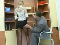 Horny Boss Grabbed His Hot Secretary For Ass