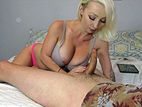 Blonde Cutie Takes All The Cum On Her Face
