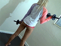 Perfect Blonde Girlfriend Gets Fucked During Workout