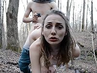 Real Amateur Girlfriend Fucked And Facialized In The Forest