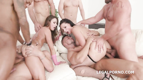 German And Hungarian Teens Double Anal Orgy