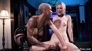 Huge Juggs Ebony Butt Fucking Fucks Blond Lesbian