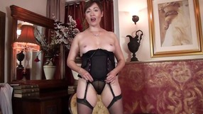 Mature Woman In Lingerie Takes It All Off