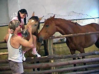 Teen Girl Adore To Play With Horses