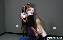Cfnm Policewomen Stroking Naked Guy